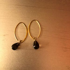 Gold and topaz earrings